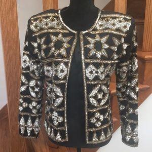 Couture Adrienne Vittadini Beaded Blazer, Holiday